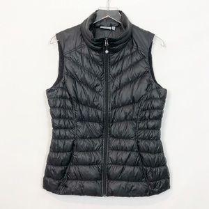 Athleta Goose Down Black Vest Medium